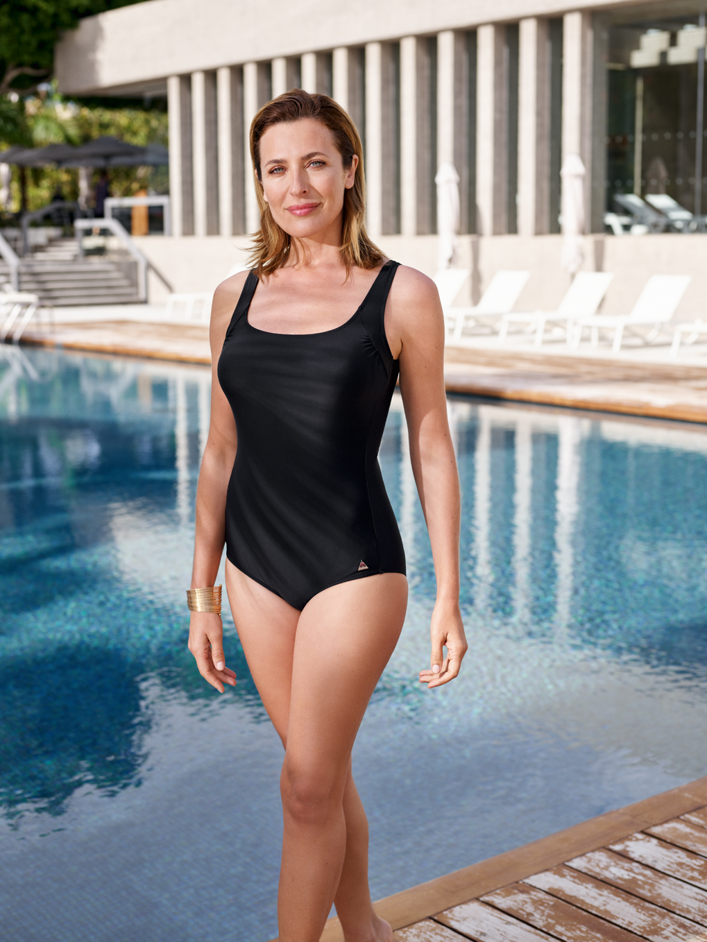 4a6341e7494 Felina One-piece swimsuit with inner support 5205201 BASIC LINE